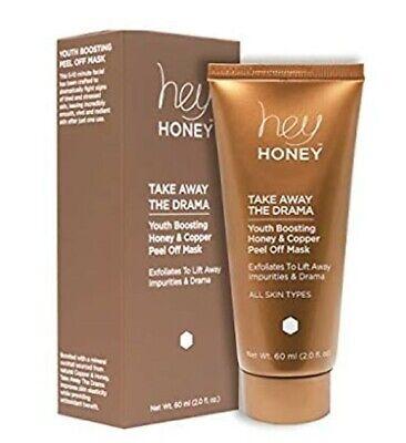Hey Honey Take Away the Drama Honey and Copper Peel Off Mask 2 fl oz 60 ml NEW