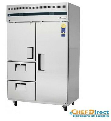 Everest Refrigeration Esrf2d2 Two-section Reach-in Refrigeratorfreezer Combo