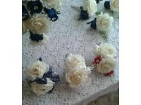 Wedding corasages all colours