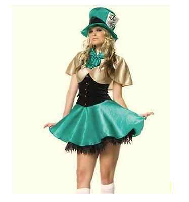 Ladies Sexy Jungle Elf Costume Halloween Party Fancy Dress SIZE UK 6-12](Party Halloween Costumes Uk)