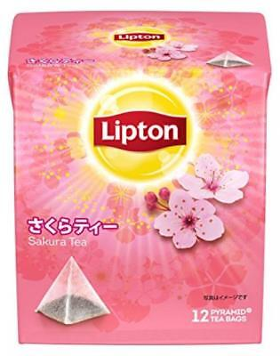 Lipton Cherry Blossom Sakura Tea pyramid type tea bag 12 bags free shipping