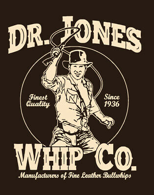 Funny Movie Costume (Dr. Jones Whip Co funny 80s movie costume Indiana retro T-SHIRT XLARGE)