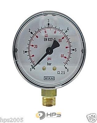 Wika Manometer (WIKA Vakuum oder Manometer senkrecht  Ø63mm 1/4 Zoll Anschluss verschied. Typen)