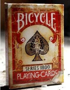 Bicycle 1800 Series Marked Vintage Playing Cards (RED) Deck by Ellusionist