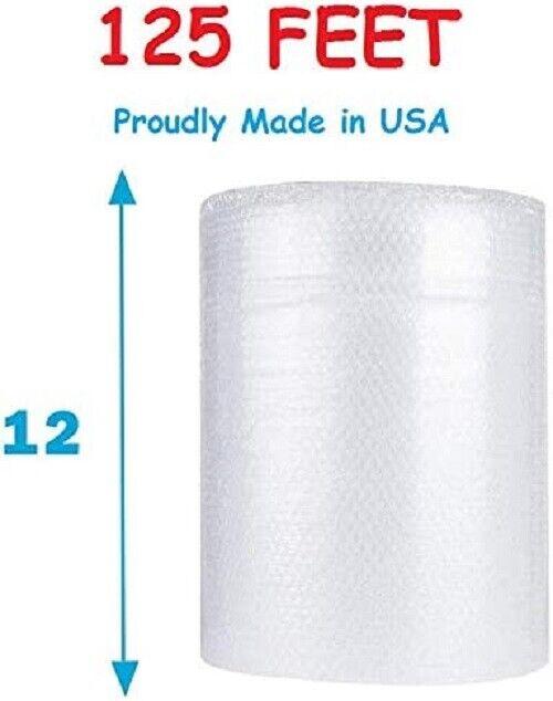 1/2″ (125FT Roll) Large Bubble Cushioning Wrap, Perforated Every 12 inches Bubble Cushioning Wrap