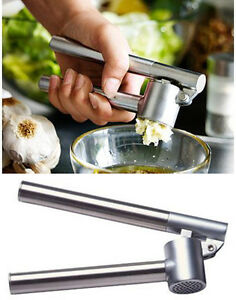 IKEA STAINLESS STEEL Garlic Press, Removable Insert, Sturdy Kitchen Tool KONCIS
