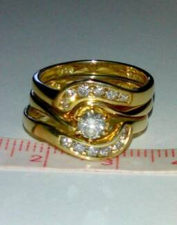 18ct diamond engagement wedding eternity ring set Valuation incl Gymea Sutherland Area Preview