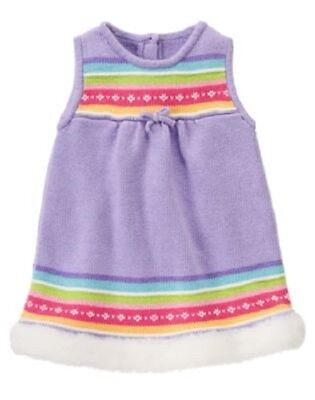 NWT Gymboree Newborn Baby Girl PLAYFUL PENGUIN Lavender Fair Isle Sweater Dress (Penguin Baby Dress)