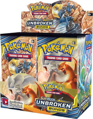 Pokemon TCG SM10 English Unbroken Bonds Booster Box 36ct SEALED & IN HAND!!