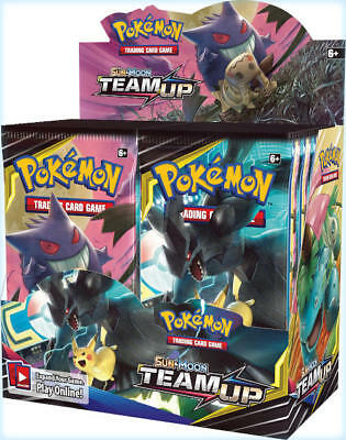 Pokemon TCG SM9 English Team Up Tag Team Booster Box 36ct -