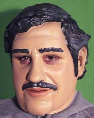 PABLO ESCOBAR LATEX MASK Costume Prop Halloween Narcos Drugs Cosplay - NOT CHINA