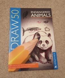 DRAW 50 ENDANGERED ANIMALS - NEW - KINGFISHER/ LEE J AMES - PAPERBACK
