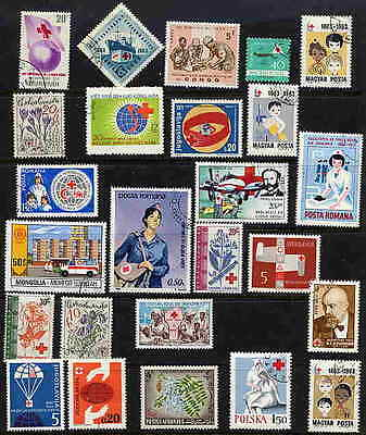 FINE COLLECTION OF RED CROSS AND RED CRESCENT STAMPS!!