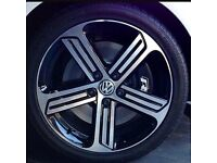 £250 Obo. One Mk7 Golf R Cadiz alloy wheel. Genuine VW. With Potenza tyre