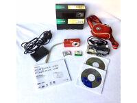 Fujifilm FinePix J Series J10 8.2MP Digital Camera - Red. Comes with carry bag & extra battery.