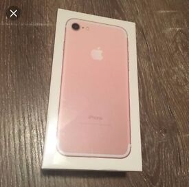 BRAND NEW BOXED AND SEALED IPHONE 7 PLUS 128GB ROSE GOLD
