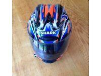 Shark motorcycle helmet - worn twice, good as new