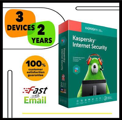 Kaspersky Internet Security Antivirus 2020 - 3 PC Device 2 YEAR - GLOBAL LICENSE