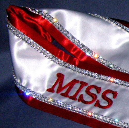 Custom Made Embroidered Luxury Rhinestone Pageant Sash
