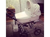 White and glitter babystyle prestige Colorado £50 Ono