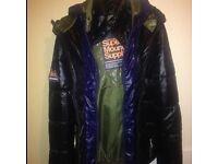 Men's large superdry coat as new
