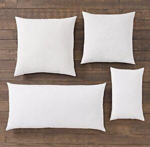 Restoration Hardware Pillow Inserts Premium Down Brand New