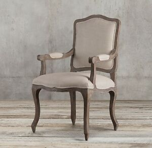 2x Restoration Hardware Dining Room Arm Chairs