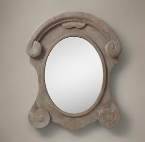 Restoration Hardware - Salvaged Mansard Scroll Mirror
