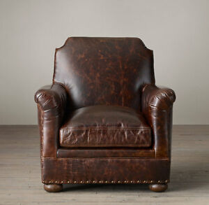 Restoration Hardware King Leather Club Chair