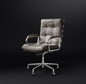 Rossi Leather Desk Chair - Restoration Hardware
