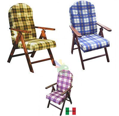 Imperdibile poltrona sedia alta poltroncina comoda 4 posizioni facile scozzese