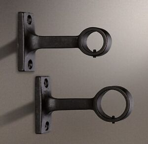 RESTORATION HARDWARE - DAKOTA – CURTAIN ROD END BRACKETS