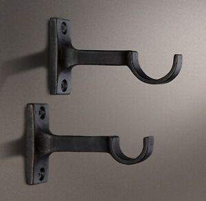RESTORATION HARDWARE - DAKOTA – CURTAIN ROD CENTRE BRACKETS (2)