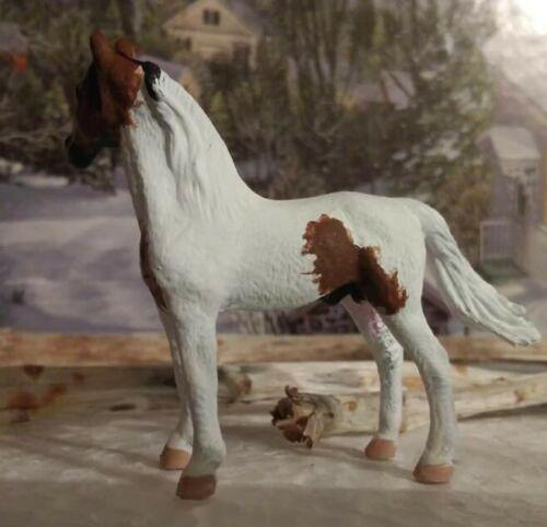 CM Custom Collecta by Breyer Mini Morgan Pinto Stallion 1:64 scale Model Horse