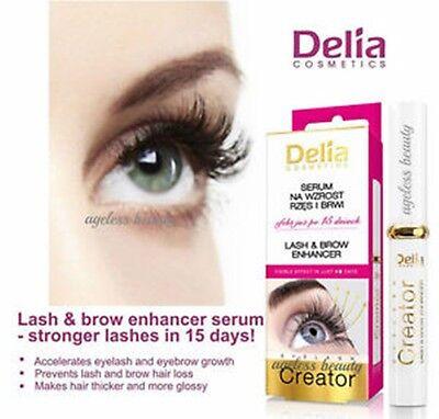 Delia Eyelash Creator Lash and Brow Enhancer Visible Effect In Just 15 Days