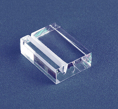 Slotted Sign Block Holder | Clear Acrylic LH1 | Economy Card Holders | Ship Free