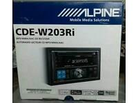 Alpine CDE-W203Ri double din mp3 CD player