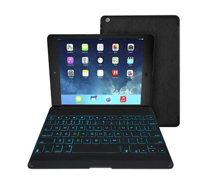 ZAGG Folio Case Hinged with Backlit Bluetooth Keyboard Multi-Angled iPad Mini 4