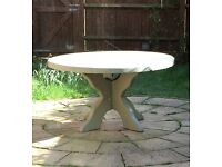 Garden table, solid wood