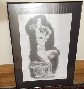 Hand made art done with charcoals.
