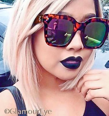 Sexy Large Big Square Flat Tilda Mirror Flash Oversized Audrey Sunglasses 6601 (Cheap Big Sunglasses)