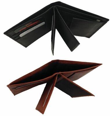 B510X Herren Brieftasche in Lederbraun Geldbörse Geldtasche Portemonnaie - Brieftasche Braun Herren Portemonnaies