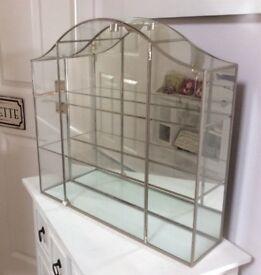 Beautiful Swarovski crystal mirrored cabinet 43cm x 42cm x 11cm