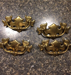 Four Retro Drawer Pulls