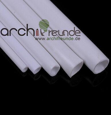 5 Stk. ABS Rundrohr 2,0 mm x 500 mm Modellbau Rohr, kunststoff, weiß