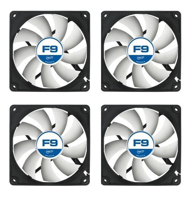 AFACO-090P0-GBA01 Artic 3 x Arctic Cooling F9 PWM PST 92mm Case Fans 1800 RPM