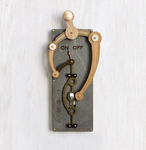 Toggle Switch Plate - Mechanical Light Switch Art Deco