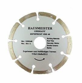 High Quality HAUSMEISTER German Diamond discs 115x22 for stone, concrete, clinker,granite building