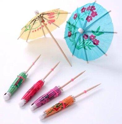 16 Picks Tropical Parasol Umbrella Drink Appetizer Hawaii Luau TiKi (Party Parasol Picks)