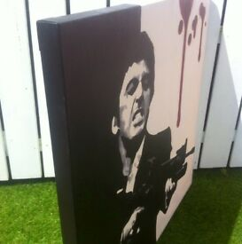 Perfect Christmas gift Original pop art acrylic Scarface Al Pacino Famous movie Scene 90x90cm